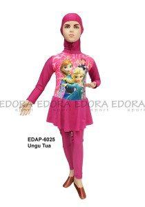 Baju Renang Anak Muslimah Karakter EDAP-6025 Ungu Tua