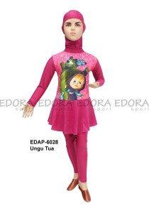 Baju Renang Anak Muslimah Karakter EDAP-6028 Ungu Tua