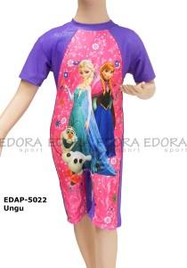 EDAP-5022 Ungu-busana renang edora anak perempuan frozen