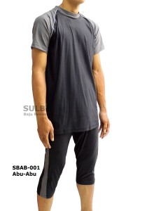 SBAB-01 Abu-Abu-sulbi baju renang muslim laki-laki