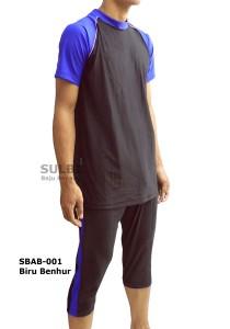 SBAB-01 Biru Benhur-busana renang dewasa atas bawah laki-laki