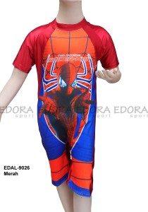 Baju Renang Diving Anak Karakter EDAL-9026 Merah