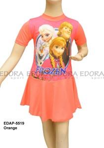 EDAP-5519 Orange-edora sport busana renang anak perempuan