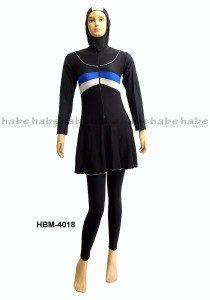 Baju Renang Muslimah Dewasa HBM-4018 (2 Warna)