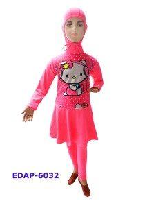 Baju Renang Anak Muslimah Karakter EDAP-6032 Pink