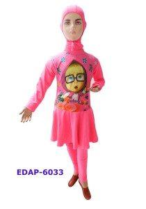 Baju Renang Anak Muslimah Karakter EDAP-6033 Pink