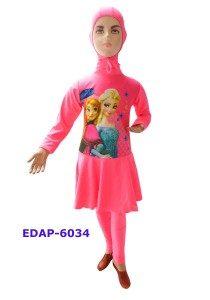 Baju Renang Anak Muslimah Karakter EDAP-6034 Pink