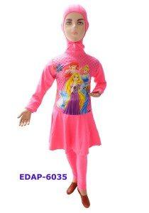 Baju Renang Anak Muslimah Karakter EDAP-6035 Pink