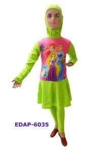 Baju Renang Anak Muslimah Karakter EDAP-6034 Hijau