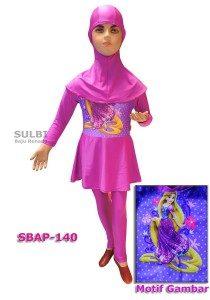 Baju Renang Anak Muslimah Karakter SBAP-140