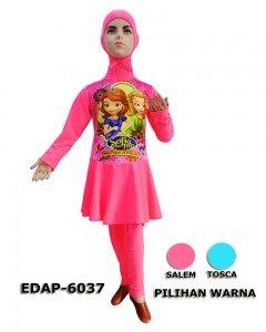 Baju Renang Anak Muslimah Karakter EDAP-6037 (2 Warna)