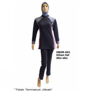Baju Senam Muslimah HBSM-001 (3 Warna)