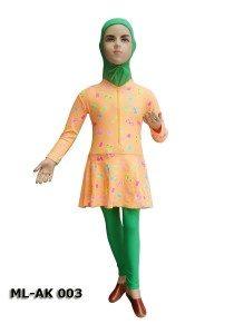 Baju Renang Anak Muslim Perempuan ML-AK 003 (2 Warna)