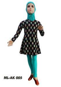 Baju Renang Anak Muslim Perempuan ML-AK 005