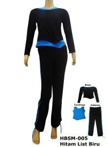 Baju Senam Muslimah HBSM-005 ( 3 Warna)