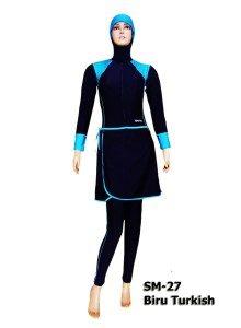 Baju renang Muslimah SM-27 Biru Turkish