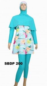 Baju renang muslimah SBDP 200