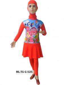 Baju renang anak muslimah karakter ML-TG G 025