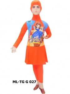 Baju renang anak muslimah karakter ML-TG G 027