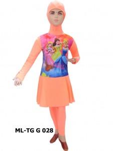 Baju renang anak muslimah karakter ML-TG G 028