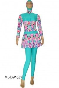 Baju renang muslimah dewasa ML-DW 059