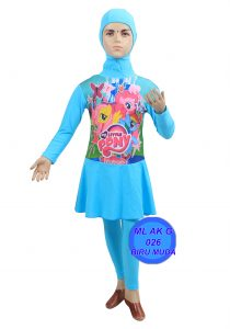 Baju Renang anak TK ML-AK G 026 biru muda