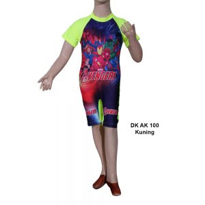 Baju Renang Diving Anak DK AK 100 Kuning