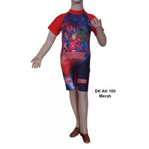 Baju Renang Diving Anak DK AK 100 Merah