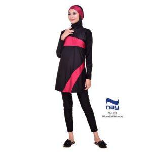 Jual Baju Renang Wanita Nay Muslimah NSP 013 Krimson