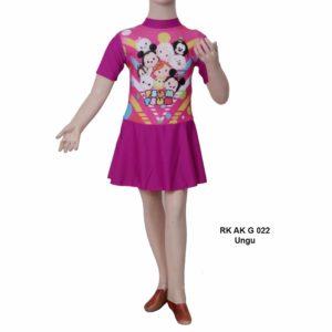 Baju Renang TK Anak RK AK G 022 Ungu