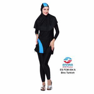 Jual Baju Renang Muslimah Edora ES FCM 004 A Biru Turkis