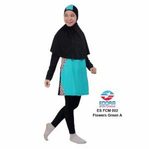 Baju Renang Muslimah Edora ES FCM 002 A Flowers Green