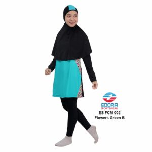 Baju Renang Muslimah Edora ES FCM 002 B Flowers Green