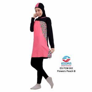 Jual Baju Renang Muslimah Edora ES FCM 002 B Flowers Peach