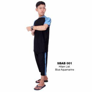 Baju Renang Pria Terbaru SBAB 001 Blue Aquamarine