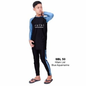 Baju Renang Pria Sulbi SBL 50 Blue Aquamarine Murah