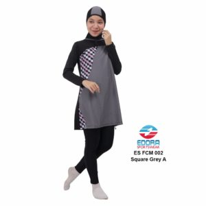 Agen Baju Renang Muslimah Edora ES FCM 002 A Square Grey