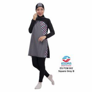 Jual Baju Renang Muslimah Edora ES FCM 002 B Square Grey