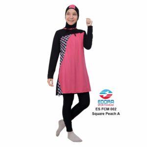 Baju Renang Muslimah Edora ES FCM 002 A Square Peach Murah