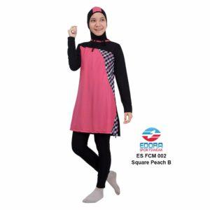 Baju Renang Muslimah Edora Terbaru ES FCM 002 B Square Peach