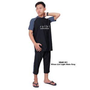 Jual Baju Renang Pria Sulbi SBAB 001 Light Slate Gray