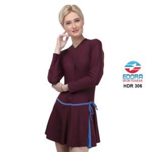 Grosir Baju Renang Wanita Edora Semi Cover HDR 306