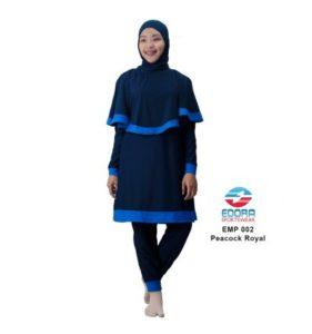 Baju RenangMuslimah EdoraEMP002 Black Peacock Royal