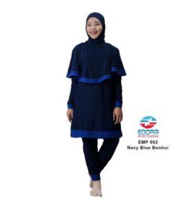 Baju RenangMuslimah EdoraEMP002 Navy Blue benhur