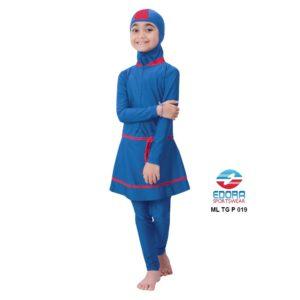 Suplier Baju RenangAnak SD Perempuan Edora Muslimah ML TG P 019 Terbaru