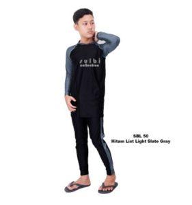 Baju Renang Pria Sulbi SBL 50List Slate Gray