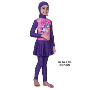 Jual Baju RenangAnak SD Perempuan Edora Muslimah ML TGG 033 iris Purple Terbaru