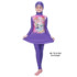 Jual Baju RenangAnak SD Perempuan Edora Muslimah ML TGG 034 Iris Purple Terbaru