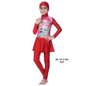 Jual Baju RenangAnak SD Perempuan Edora Muslimah ML TGG 034 Red Terbaru