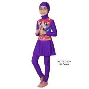 Jual Baju RenangAnak SD Perempuan Edora Muslimah ML TGG 035Iris Purple Terbaru